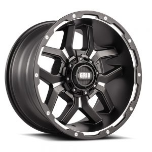 GRID GD07 MATTE BLACK MILLED