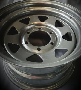 TOYOTA HILUX STEEL 15X8 6X139.7 +0 COYOTE BLACK