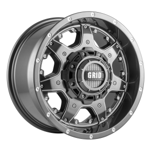 GVM LANDCRUISER WHEEL GRID GD01 GLOSS GRAPHITE 1650KGS (17X9 5X150 -12)