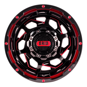 Grid GD14 Alloy Wheel (gloss black with red accents)