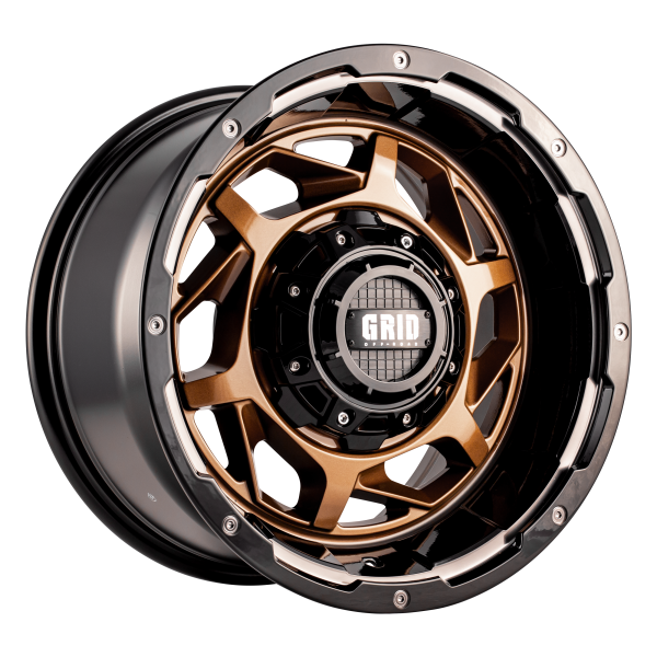 Grid GD14 Alloy Wheel (bronze with gloss black lip)