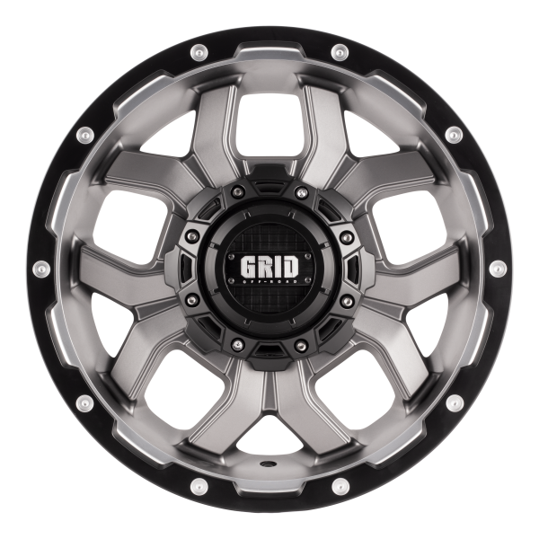 GVM LANDCRUISER WHEEL GRID GD01 GLOSS GRAPHITE 1650KGS (17X9 5X150 -12)