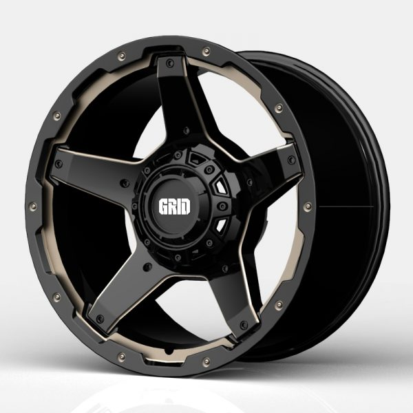 Grid GD04 Gloss Black with Double Dark Tint Milling 1
