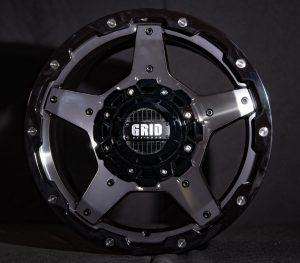GVM LANDCRUISER WHEEL GRID GD04 DOUBLE DARK TINT / GLOSS BLACK LIP 1650KGS (17X9 5X150 -12)