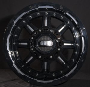 GVM LANDCRUISER WHEEL GRID GD04 DOUBLE DARK TINT / GLOSS BLACK LIP 1650KGS (17X9 5X150 -12)