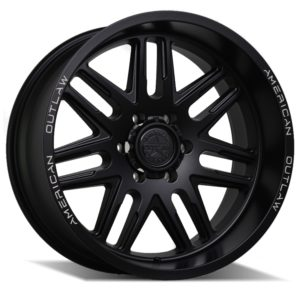 AMERICAN OUTLAW LONESTAR SATIN BLACK MILLED EDGE (17X8.5)