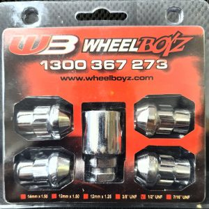 "ANTI THEFT LOCK NUT SET 1/2"" UNF (CLOSED END)"