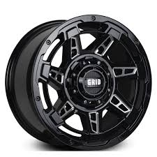 GRID GD12 GLOSS BLACK MILLED