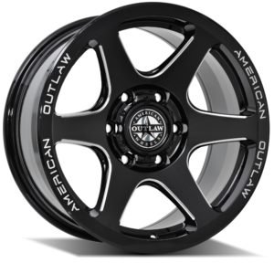 AMERICAN OUTLAW SNIPER SATIN BLACK (17X8.5)