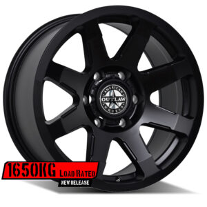 AMERICAN OUTLAW LEGACY SATIN BLACK NO MILLING (18X9 5X150 +35) G.V.M APPROVED