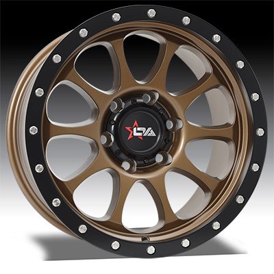 OFFROAD ARMOUR HAVOC SATIN BRONZE WITH SATIN BLACK (17x9)