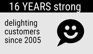12 Years Strong: Delighting customers since 2005.