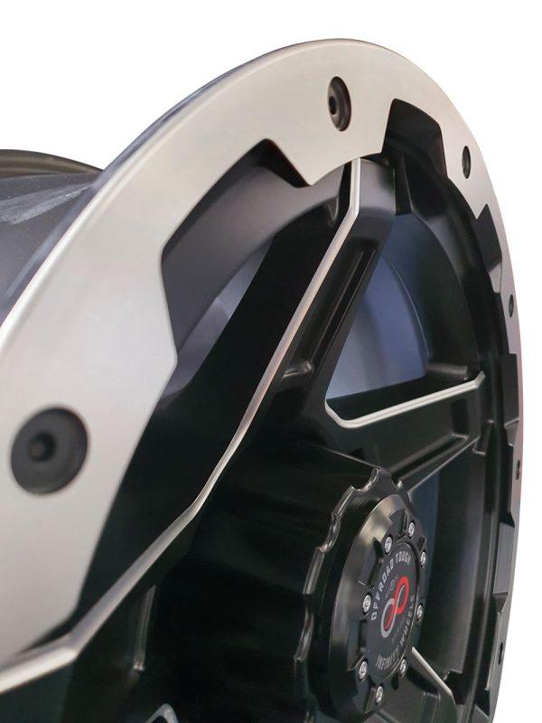 GVM LANDCRUISER WHEEL INFINITY FRONTIER MATTE BLACK MACHINED 1650KGS (17X9 5X150 -12)