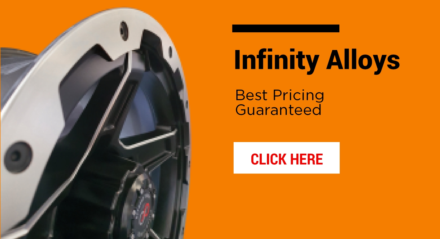 Infinity Alloys in stock and great value for money