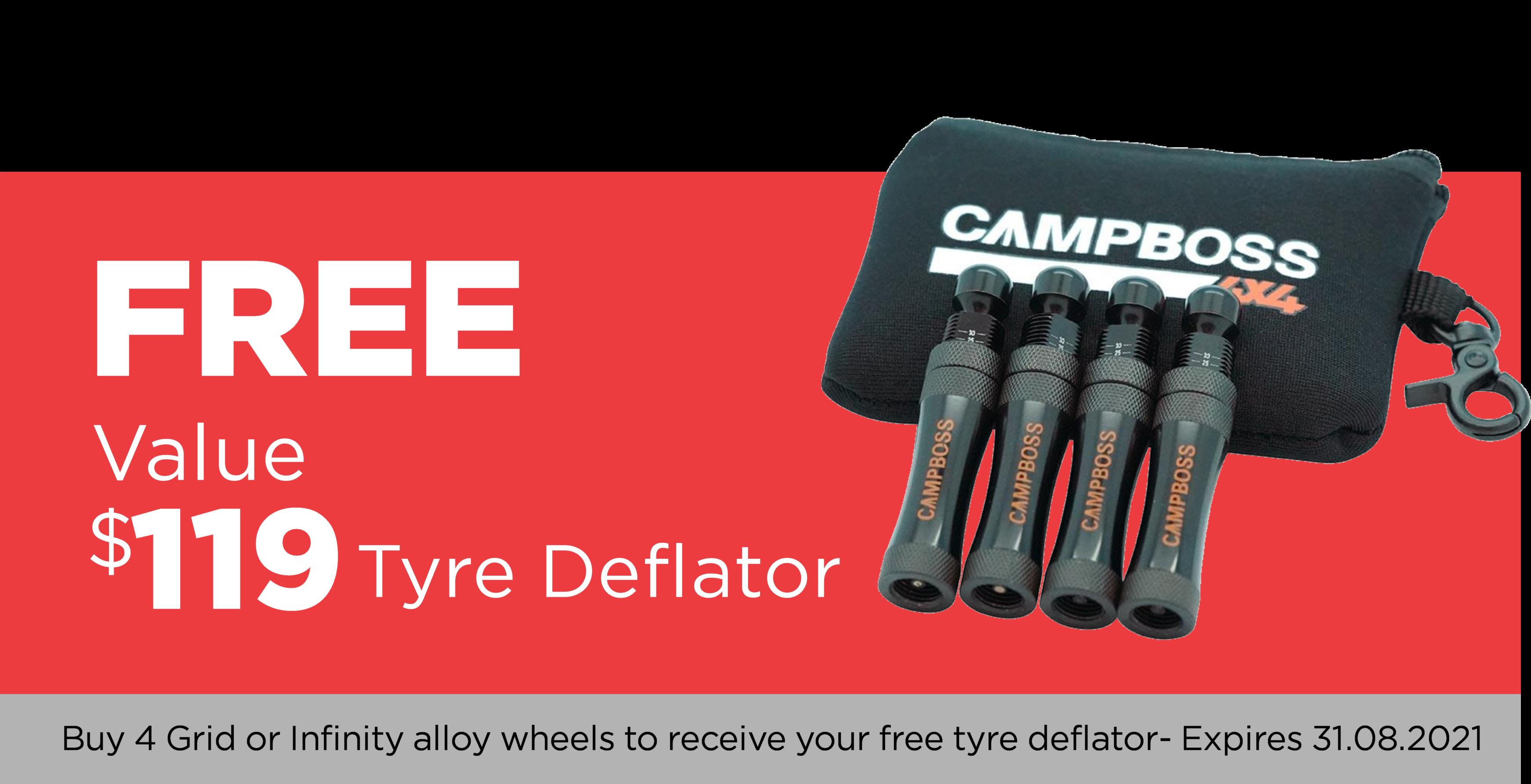 Free Tyre Deflator in August